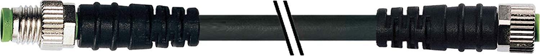 Murr M8 male recht / M8 female recht PVC-OB   3x0,25 zwart 1m