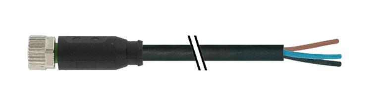 Murr M8 female connector recht met kabel PUR-OB 4x0,25 3m
