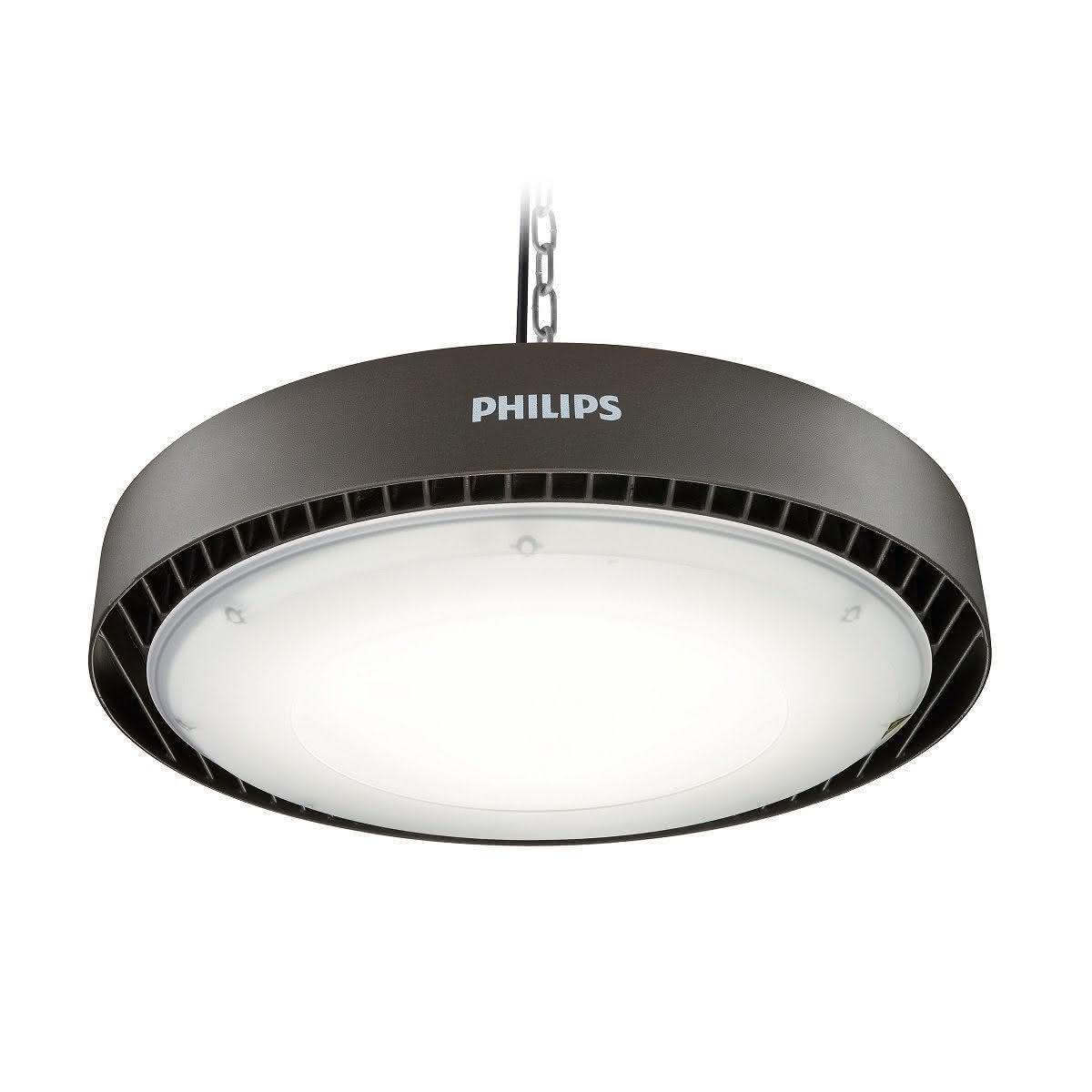 Philips Ledinaire High-bay 10000lm, 97W, 4000K, CRI80-89, extreem breedstralend  >80?, IP65, grijs, Ï 244mm, 50mm, 50mm