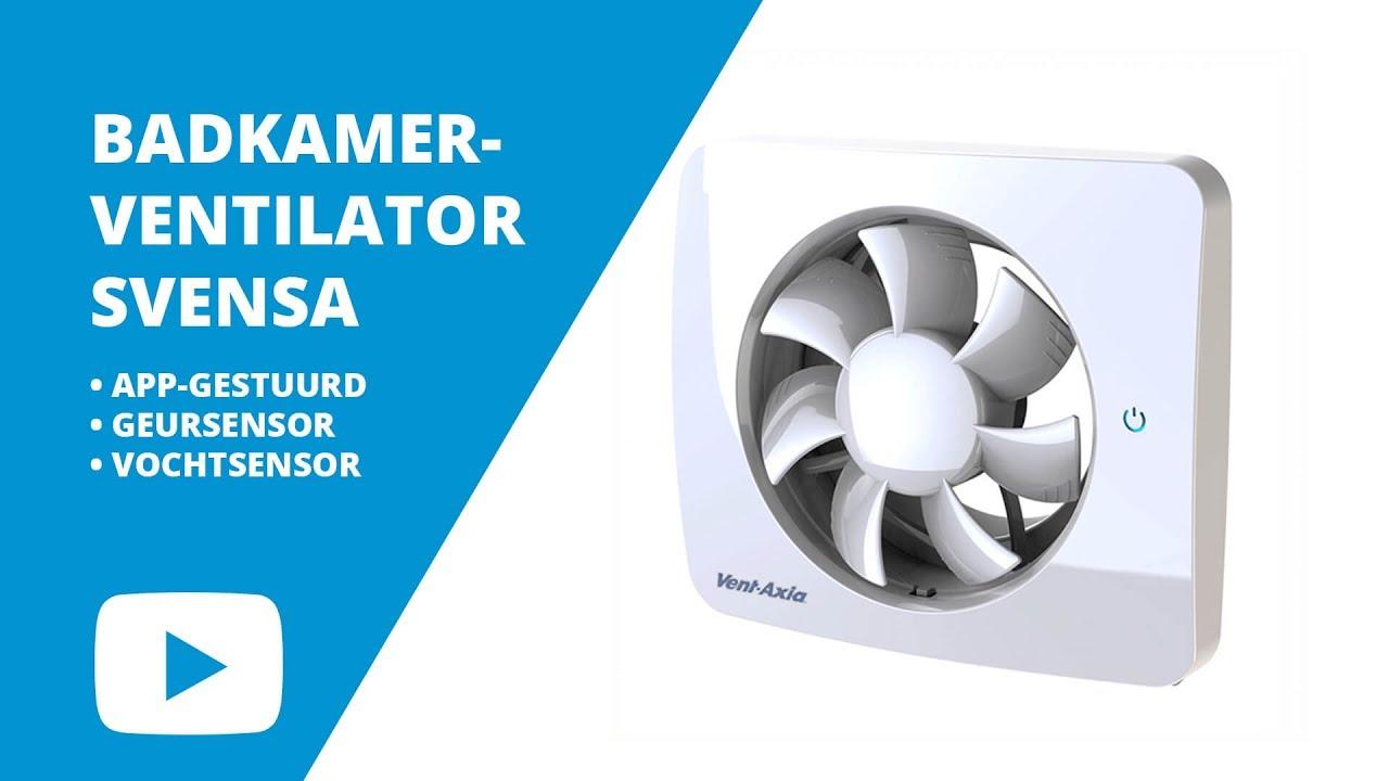 Vent-Axia Slimme ventilator met geurdetectie, Svensa, 19dB(A), 140m3/u, touch-screen, App gestuurd, incl. adapter en designfont
