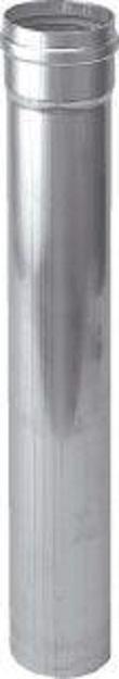 Rookgasbuis dikwandig aluminium, diameter 130mm L= 500mm, mof met afdichting, Gastec QA