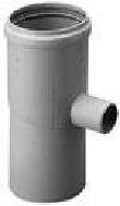 Burgerhout kunststof enkelwandig rookgas, L= 130mm condensafvoer, 80x80mm