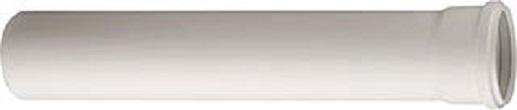 Ubbink rookgasbuis rolux pptl kunststof, diameter 100mm L= 500mm, mof met afdichting, Gastec QA