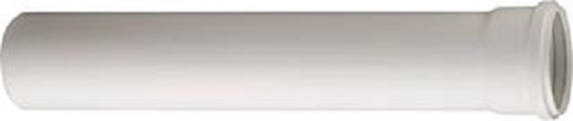Ubbink rookgasbuis rolux pptl kunststof, diameter 100mm L= 1000mm, mof met afdichting, Gastec QA