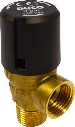 Pentec Duco veiligheidsventiel 1/2 KE 3 bar