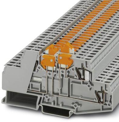 Phoenix Contact scheidings- en messcheidingsaansluitklem, veerdrukaansluiting, doorsnede:0,2 mm² - 4 mm²