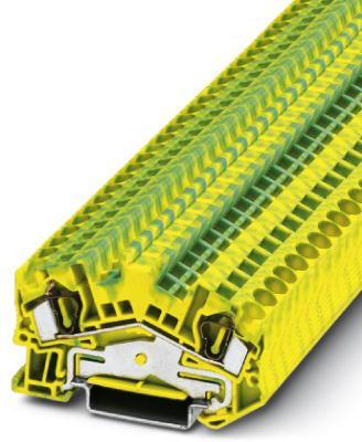 Phoenix Contact aardklem met veerdrukaansluiting, doorsnede: 0,08-6 mm2, dikte: 6,2 mm, kleur: groen-geel