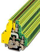 Phoenix Contact twee-etage aardklem, doorsnede: 0,2-4 mm2, AWG: 26-10, dikte: 6,2 mm, kleur: groen-geel