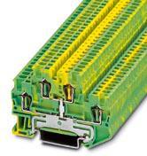 Phoenix Contact aansluitklem, doorsnede: 0,08 mm,2 - 1,5 mm,2, veerdrukaansluiting, breedte: 4,2 mm, kleur: groen-geel