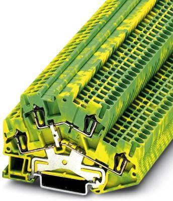 Phoenix Contact aansluitklem, doorsnede 0,08 - 4  mm2, veerdrukaansluiting, breedte  5,2 mm, kleur  groen-geel