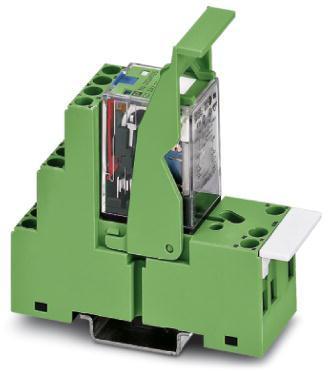 Phoenix Contact Voorgemonteerd relaismoduul met schroefaansluiting; sokkel, industrieel relais met geintegreerde led, vrijloopdiode