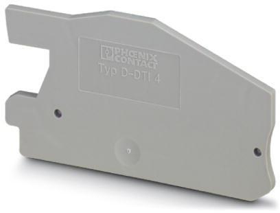 Phoenix Contact afsluitplaat, lengte 66mm, breedte 2,2mm, hoogte 43mm, grijs