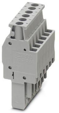 Phoenix Contact connector, schroefaansluiting, 5p, doorsnede:0,14 mm2 - 4 mm2, breedte: 26 mm, hoogte: 47 mm, kleur: grijs