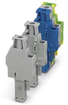 Phoenix Contact connector, schroefaansluiting, 1p, doorsnede:0,14 mm2 - 6 mm2, breedte: 6,2 mm, hoogte: 48,5 mm, kleur: groen-geel
