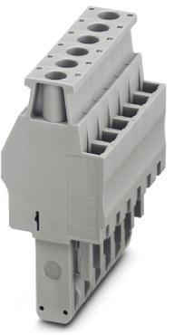 Phoenix Contact connector, schroefaansluiting, 2p, doorsnede:0,14 mm2 - 6 mm2, breedte: 12,4 mm, hoogte: 48,5 mm, kleur: grijs