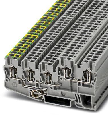 Phoenix Contact steekbaar ind. relais met vermogenscontacten en hardverguld, 4 wisselcontacten, testknop, status-led, vrijloopdiode