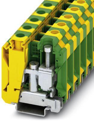Phoenix Contact aardklem, schroefaansluiting, doorsnede 10-35 mm², b= 16 mm, kleur: groen-geel, montage: NS 35/7,5, NS 35/15, NS 32