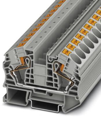 Phoenix Contact Aansluitklem, Push-in-aansluiting, doorsnede: 0,5-25 mm², b: 12,2 mm, grijs, montage: NS 35/7,5 - 15