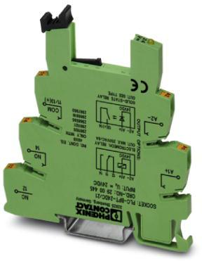 Phoenix Contact 6,2 mm PLC-basisklem met push-in-aansluiting, ingangsspanning 24V DC (zonder relais- of optorelaismontage)