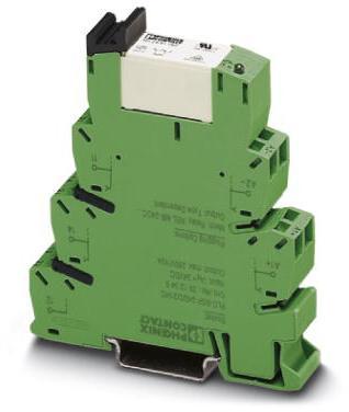 Phoenix Contact PLC-interface, omvat basisklem PLC-BPT.../21 HC met Push-in en steekbaar miniatuurrelais voor hoge continue stromen