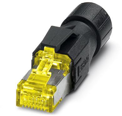 Phoenix Contact RJ45-connector, IP20, CAT6A, 8-polig, met QUICKON-snelaansluittechniek, voor 1- en 7-draadsaders, kleur: zwart