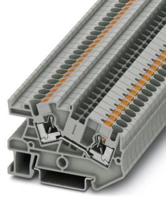 Phoenix Contact Aansluitklem, Push-in-aansluiting, doorsnede: 0,2-6mm², b: 6,2 mm, grijs, montage: NS 35/7,5 - 15