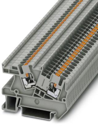 Phoenix Contact installatierijgklem, Push-in, doorsnede 0,14-4mm², AWG 26-12, b 5,2mm, grijs, montage NS 35/7,5, NS 35/15