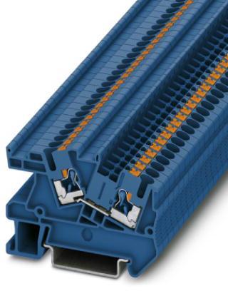 Phoenix Contact installatierijgklem, Push-in, doorsnede 0,14-4mm², AWG 26-12, b 5,2mm, blauw, montage NS 35/7,5, NS 35/15