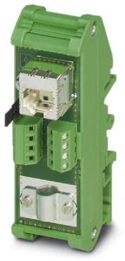 Phoenix Contact patchpanel, RJ45-busconnector op 8 schroefaansl.klemmen (1:1-bezetting) CAT5e, 10/100/1000 Mbit/s, railmontage, IP20