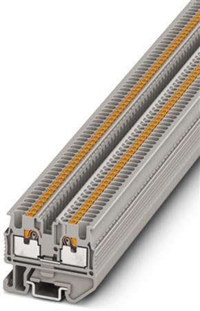 Phoenix Contact mini-aansluitklem, aansluitmethode: Push-in-aansluiting, doorsnede:0,14 mm2 - 1,5 mm2,breedte: 3,5 mm, kleur: grijs