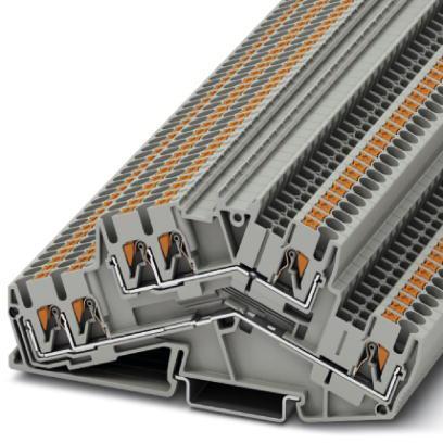 Phoenix Contact twee-etageklem, doorsnede: 0,14 mm² - 4 mm², Push-in-aansluiting, breedte: 5,2 mm, kleur: grijs