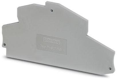 Phoenix Contact afsluitplaat, lengte: 111,8 mm, breedte: 2,2 mm, hoogte: 45,8 mm, kleur: grijs