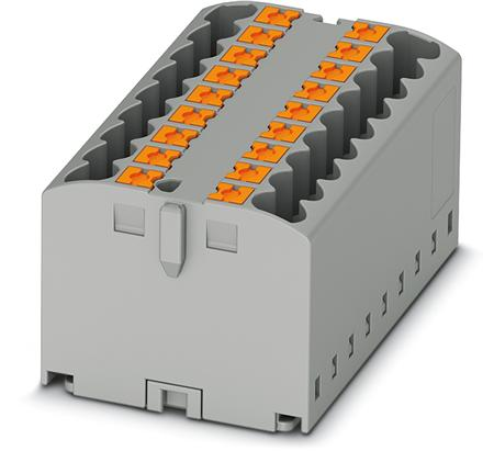 Phoenix Contact verdelerblok, basisklem, Push-in-aansluiting, 2x, 0,14-4mm², AWG 26-12, bxh 15,6-21,2mm, blauw, montagerailadapter