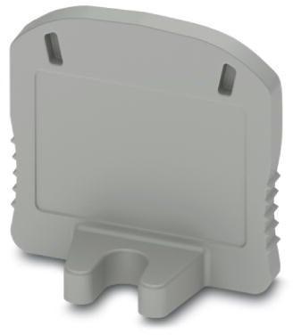 Phoenix Contact bevestigingseindplaat, met schroefbevestiging, lengte: 19,9mm, breedte: 2,2mm, hoogte: 17,7mm, grijs