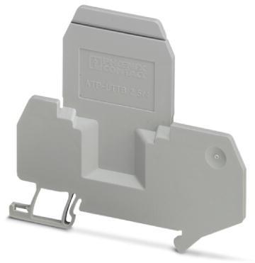 Phoenix Contact groepenscheidingsplaat, voor optische en elektrische scheiding van klemmengroepen, dikte 2mm, grijs