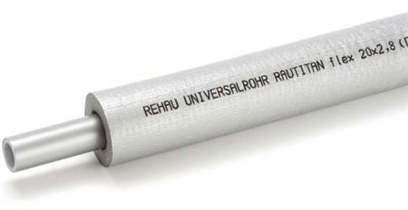 REHAU  1m RAUTITAN Stabil leiding / buis 16,2 x 2,6mm geïsoleerd ISO-13mm op rol. E=25