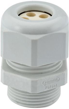 Hummel Hsk-k-multi m32x1,5 grijs  kabelinvoer 6,5 tot 6,5 mm