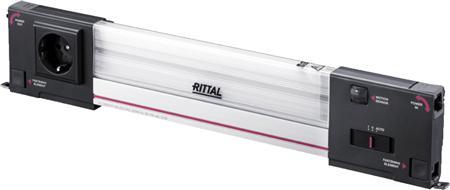 Rittal SZ systeemverlichting LED, 100-240V, B=437mm, 1200 lumen, zonder aansluitkabel, RAL7016, bewegingsmelder, contactdoos geaard
