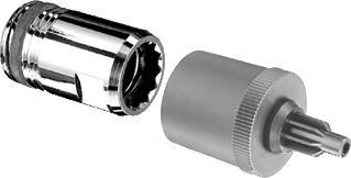 Schell Quick adapter 35 mmmet geï ntegreerde waterstopafm. 35 mm x 1/2&apos