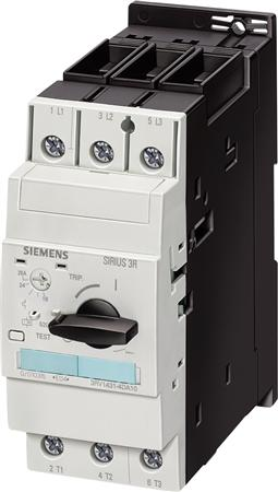 Siemens 3RV1421, CIRCUIT-BREAKER, 1.1...1.6  A N-RELEASE   33 A, SIZE S0, TRANSFORMER PROTECTION, CL. 10, SCREW CONNE
