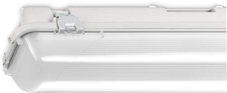 Norton waterdicht led armatuur 37W/4000K, 4200lm, CRI80-89, breedstralend 40-80°, IP66, 50.000uur, lxbxh 1282x101x101