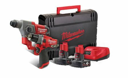 Milwaukee M12 FUEL™ Powerpack FUEL™ II slagboormachine + boorhamer M12 FPP2B-402X