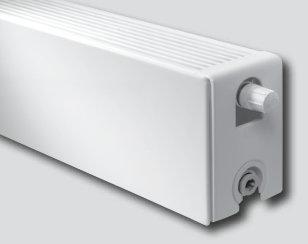 Vasco Flatline Plint paneelradiator Kleur S600 type 22 Breedte 2600mm Hoogte 2000mm afgifte W756520 1573W W554520 814W