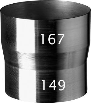 Ubbink alminium  verloop 167-149