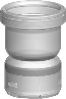 Ubbink kunststof enkelwandig rookgas, koppelstuk, 58x60mm