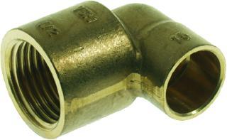 VSH Messing soldeer knie 12mm x 1/2