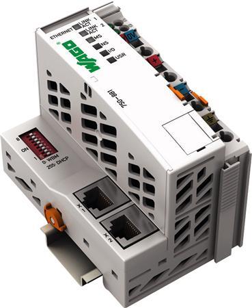 Wago Ethernet programmeerbare veldbus-coupler 10/100 Mbit/s digitale en analoge signalen