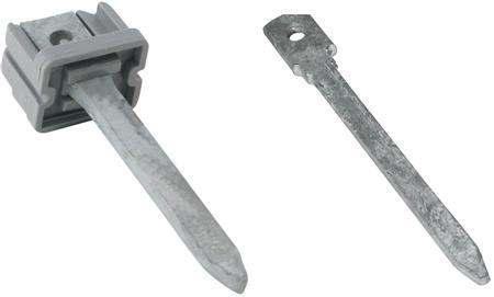 Walraven BIS inslagpen, type B, voor PVC beugels. 80x6,5mm. Verzinkt.