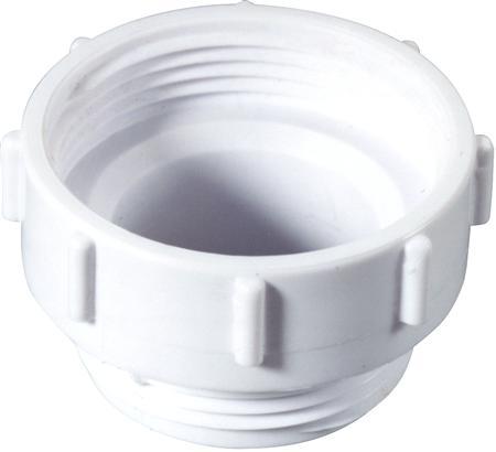 Walraven McAlpine verloopring binnen/buiten voor afvoeren met rubber ring. 1 1/2x1 1/4. Wit.