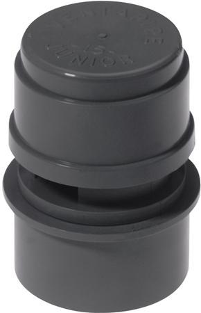 Walraven McAlpine Ventapipe beluchter met verloopring. 32x40mm. Grijs.